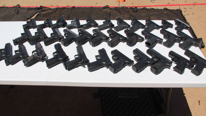 Handguns for Monthly Open Training